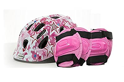 Raleigh Mystery Ice Girls Bike Safety Helmet Knee Elbow Pad Set Pink CSH141 from Raleigh