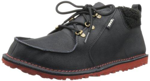 39折Teva Men's Mush Atoll Chukka-Luxe Boot男士真皮休闲短靴黑色 $31.32