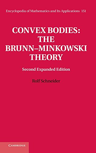 Convex Bodies: The Brunn-Minkowski Theory (Encyclopedia Of Mathematics And Its Applications)