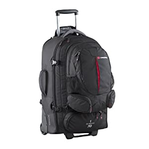 Sky Master 70 Wheeled Travel Pack/ Rucksack with Wheels (black)