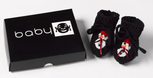 Baby Buddha - Snowman Bootie Baby Bootie Baby Christmas Gift Newborn - 12M
