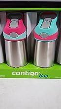 Contigo Kids 2 PK Flip Chill Bottle Stainless Steel Autospout Water Bottles PinkAqua