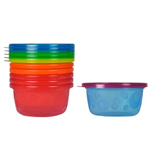 The First Years Take & Toss Toddler Bowls, 8 Ounce, 6 Pack