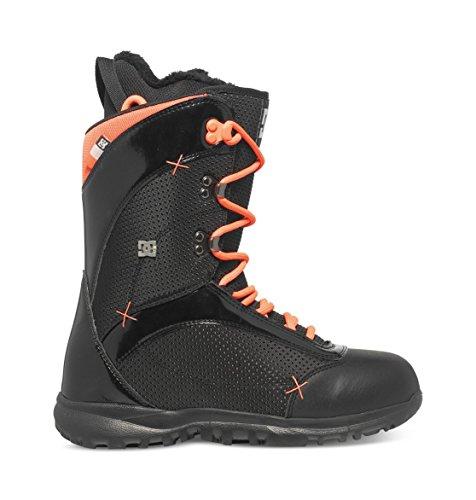 DC Women's Karma Snowboard Boot, Black/Coral, 7B