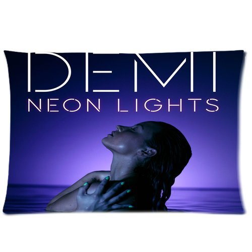 "Sale alerts for oceans store Demi Lovato Neon Lights Personalized Custom Zippered Pillow Case 20""x30""(one side) by oceans store - Covvet"