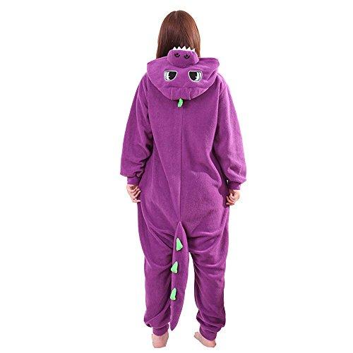 [XMiniLife Colorful Dragon Adult Halloween Kigurumi Onesie,Purple/XL] (Spyro The Dragon Halloween Costume)