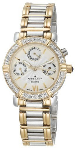 Anne Klein Women's 10-7899MPTT Diamond Accented Multi-Function Two-Tone Watch