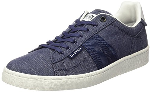 G-Star Raw Uomo, Sneakers, colore Blau (Leather/ denim mix), taglia 40