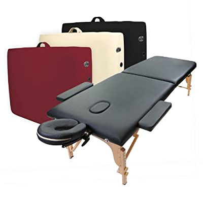 Saloniture Professional Portable Folding Massage Table with Carrying Case - Multiple Colors Available