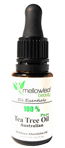 Tea Tree Oil With Dropper 15 Ml 100% Pure, Natural Organic Australian Melaleuca Essential Oil, Undiluted, Antibacterial, Hair Cleanser, Blemish & Acne Spot Treatment, Wound Healing - Mix In Your Own Dandruff Shampoo, Soap, Face Wash, Body Wash, Cream, Lot