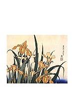 Legendarte Lienzo Iris E Cavalletta di Katsushika Hokusai