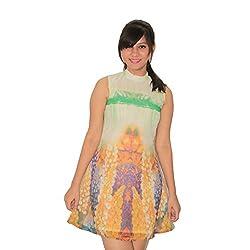 Nitra Women's A-Line Dress_DRWH_Multicoloured_M