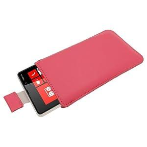 igadgitz Rose Étui Housse Pochette en Cuir pour Nokia Lumia 820 Windows Smartphone