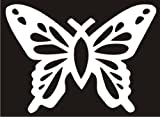 Christian Butterfly Fish White Die Cut Vinyl Decal