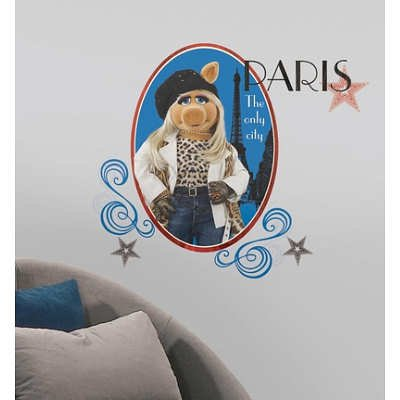 (18x40) Muppets - Miss Piggy Peel & Stick Giant Wall Decal