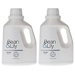 Bean and Lily Laundry Detergent, Lavender, 50 oz Bottle (pack of 2)