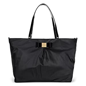 Kate Spade Veranda Place Nylon Blossom Black Bow Baby Bag PXRU4787-001 by Kate Spade New York