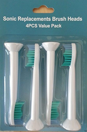 4X Replacement Toothbrush Heads For Philips Sonicare Proresults Hx6013/66