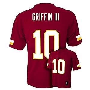 Robert Griffin III RG3 #10 Washington Redskins NFL Kids Sizes 4-7 Mid-tier Jersey (Kids Small Size 4)