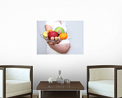 Healthy Pregnant Wall Decal - 36 Inches W X 26 Inches H - Peel And Stick Removable Graphic