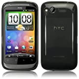 HTC DESIRE S GEL CASE / COVER / SHELL / SKIN   BLACK PART OF THE QUBITS ACCESSORIES RANGE phones