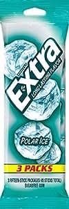 Extra Polar Ice Sugarfree Gum, multipack (3 count total)