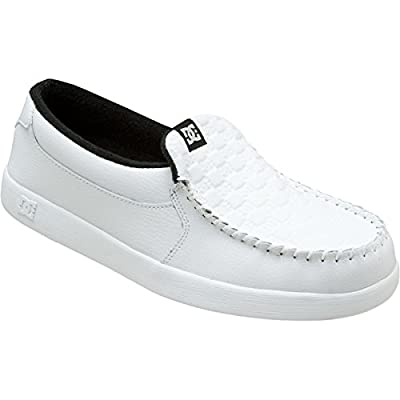 DC Men's Villain TX Skate Shoe,White/Monogram,11 M US