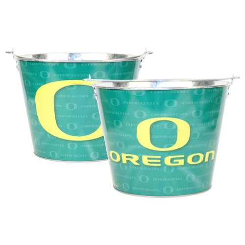 Oregon Ducks Ncaa Metal Logo Repeater Beer Bucket With Handle (Holds 6 Longneck Bottles With Ice) front-37099
