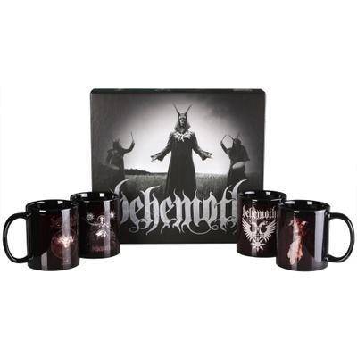 Behemoth testa in plastica, edizione da collezione, Tazza, Set da colazione, 4 pezzi, colore: nero