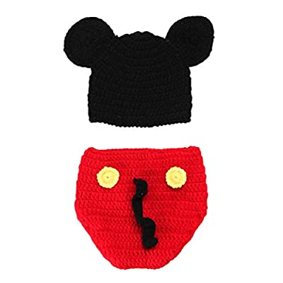 Baby Knit Photography Cartoon Outfits Baby Boy Girl Newborn 0-9 Months Photo Prop Crochet Clothes