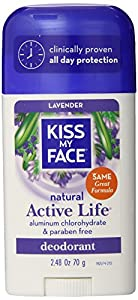 Kiss My Face Lavender Active Enzyme Stick Deodorant, 2.48-Ounce Sticks (Pack of 6)