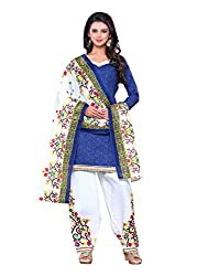 Dealsure Women's Multicolor Cotton Printed Salwar Suit Dress Material