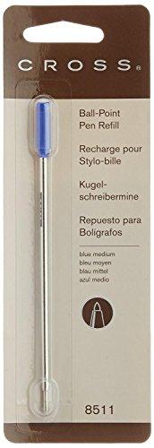 CROSS Lot de 5 Recharges pour stylo à bille pointe moyenne encre bleue