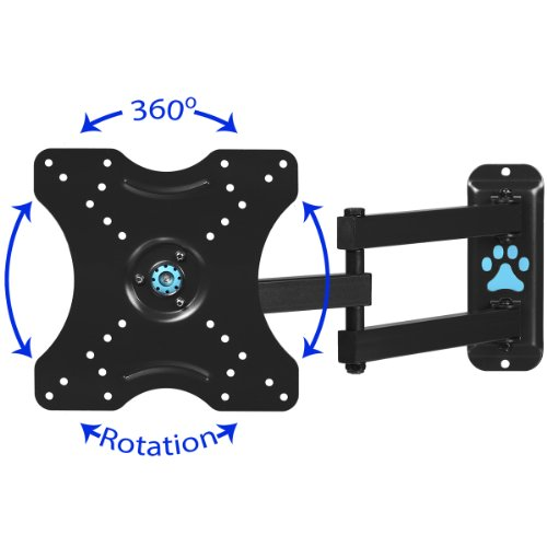 cheetah mounts alamlb articulating arm 20 extension tv wall mount bracket new ebay. Black Bedroom Furniture Sets. Home Design Ideas