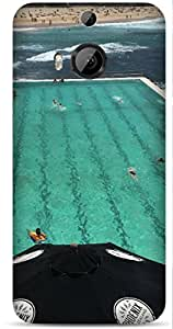 Swimming Pool by Sanchali Printed Back Cover Case For HTC One M9 Plus