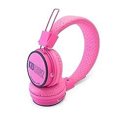 Kidwavz KV-100 Childrens Wireless Bluetooth Volume Limited Headphones by Brainwavz (Pink)