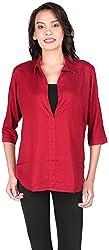 Belinda Women's Shirt Tops (TP01_MN , Maroon, S)