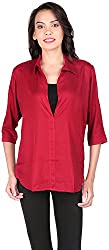 Belinda Women's Shirt Tops (TP01_MN , Maroon, XL)