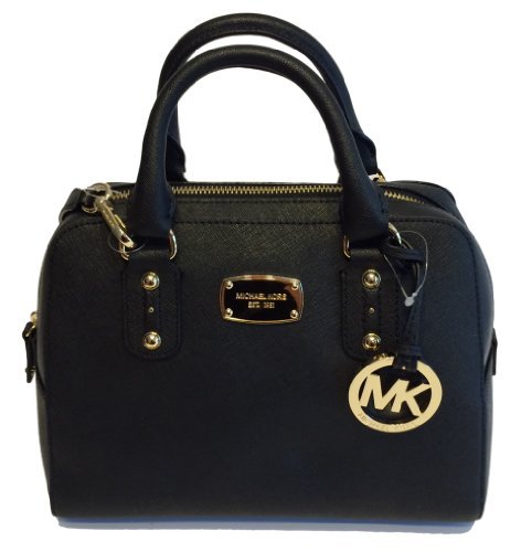 Michael Kors Small Satchel Black Saffiano Leather