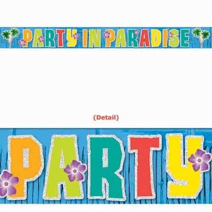 Coral Reef Glitter Fringe Banner, 7ft