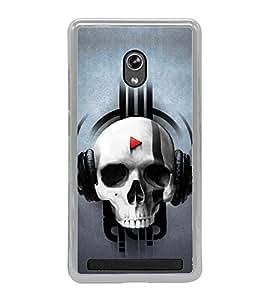 Skull Listening Music 2D Hard Polycarbonate Designer Back Case Cover for Asus Zenfone 5 A501CG :: Asus Zenfone 5 Intel Atom Z2520 :: Asus Zenfone 5 Intel Atom Z2560