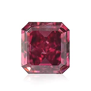 0.25Cts Argyle Fancy Purplish Red Loose Diamond Natural Color Radiant Cut GIA