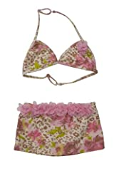 Kate Mack Girl's 7-16 On the Wild Side Skirted Bikini in Multi