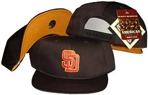 San Diego Padres Brown Snapback Adjustable Plastic Snap Back Hat Cap by