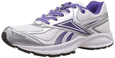 Reebok Women's Turbo Track Lp White, Silver and Purple Mesh Running Shoes - 7 UK