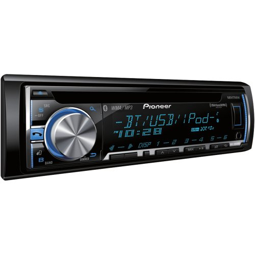 Pioneer Deh-X6600Bs Cd Receiver With Mixtrax(Tm), Bluetooth(R), Siriusxm(Tm) Ready, Android(Tm) Media Access, 3 Sets Rcas
