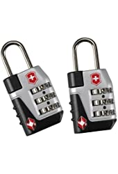 Franklin Covey Travel Sentry Approved Lock Set - Black by Victorinox