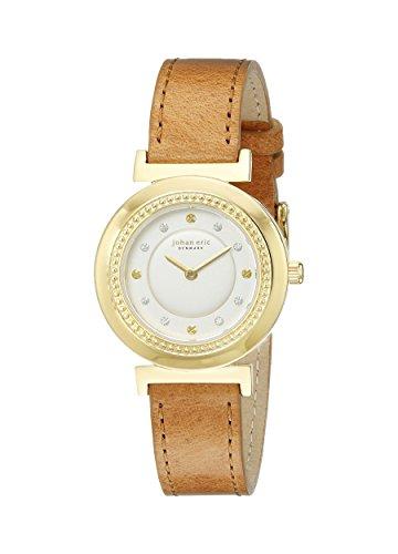 Johan Eric JE1200-02-013Djursland analógico cuarzo color marrón reloj de la mujer