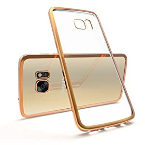Galaxy Plus Golden Transprent Back Bumper Cover For Samsung Galaxy S4
