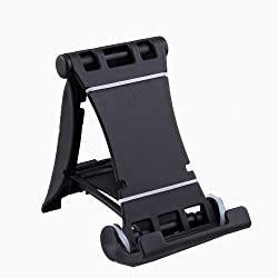Universal Black Mini Desk Mobile/Tablet Stand for Smartphones & Tabs